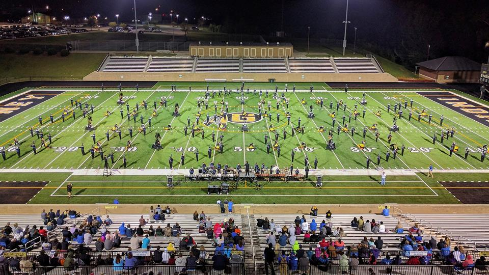"The 2016 Rebel Regiment performing their show ""Dark Horse"" at the Gaffney High School Reservation Tournament of Champions. Photo Credit to Michael Scholz/Upstate Creative Photography."