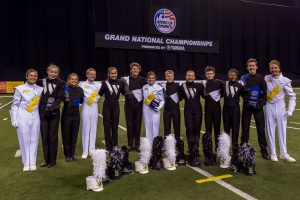 Drum majors from the Byrnes band, Wando Band, and Fort Mill band at Grand Nationals. (Photo Credit: Michael Scholz/Upstate Creative Photography)
