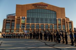The Rebel Regiment preparing to enter the Lucas Oil Stadium for Grand Nationals. (Photo Credit: Michael Scholz/Upstate Creative Photography)