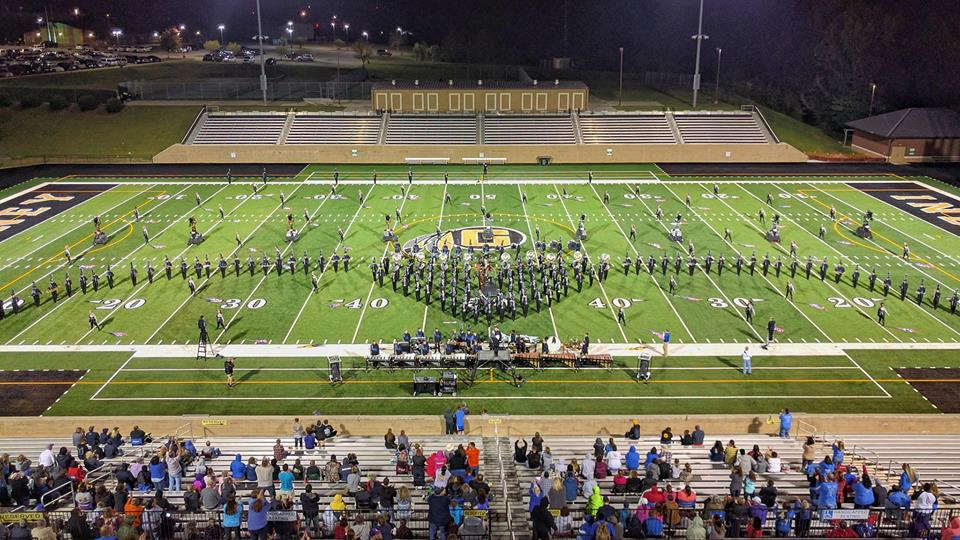 "The 2016 Rebel Regiment marching band performing their show ""Dark Horse"" at the Gaffney High School Reservation Tournament of Champions on October 8th. Photo Credit to Michael Scholz/Upstate Creative Photography."